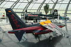 North American T-28B Trojan OE-ESA and Dornier Alpha Jet D-IADM