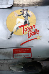 "Pin up ""Texan Belle"" on the fuselage of Harvard 93542/LTA-542"