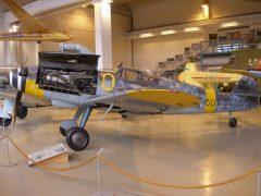 Messerschmitt Bf-109G-6/Y MT-507/O Finnish Air Force, Keski-Suomen Ilmailumuseo, Aviation Museum of Central Finland, Tikkakoski