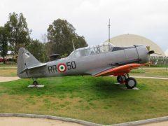 North American T-6H-2M Texan MM54143 RR-50 Italian Air Force, Piana delle Orme Museum, Borgo Faiti, Latina, Italy.