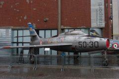 Republic F-84F Thunderstreak  MM53-6805/50-30 Italian Air Force, Museo Nazionale della Scienza e della Tecnica Leonardo da Vinci, Milano