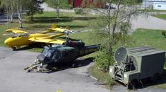 de Havilland J33 Venom and Agusta Bell Hkp3C helicopter