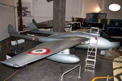 de Havilland Vampire FB.5 76 Italian Air Force, Museo Nazionale della Scienza e della Tecnica Leonardo da Vinci, Milan Italy