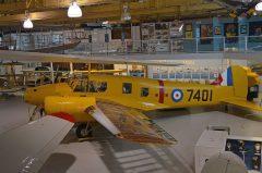 Avro Anson II 7401 RCAF (composite aircraft), The Hangar Flight Museum, Galgary