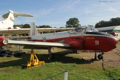 BAC Jet Provost T.3A XN586 CF-91 RAF, Brooklands Museum, Weybridge UK