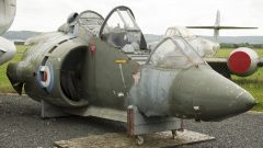 Hawker Siddeley Harrier T.2 (cockpit) XW264 RAF, Jet Age Museum