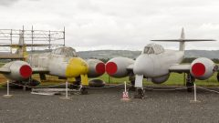 Gloster Meteor T.7 WF784 and VW453 RAF Jet Age Museum