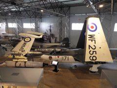 Hawker Sea Hawk F.2 WF259 171-A and de Havilland Sea Venom FAW.22 WW145 680-LM both Royal Navy, National Museum of Flight Scotland
