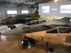 SEPECAT Jaguar GR.1 XZ119 F, Panavia Tornado F.3 ZE934 and English Electric Lightning F.2A XN776 C all RAF
