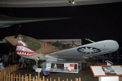 Curtis P-40E Warhawk P-18723/67 Flying Tigers, Chinese Air Force, San Diego Air & Space Museum