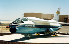"""Vought F-8A """"Super Critical Wing"""" N810NA"""