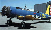 Minter Field Air Museum Vultee BT-13 Vailant N75789/150