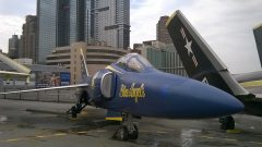Grumman F11F-1 Tiger 141884 5 US Navy Blue Angels, Intrepid Sea, Air & Space Museum, New York, NY picture Mike Hodish
