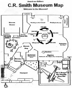 American Airlines C.R. Smith Museum Map