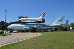 Boeing 747-123SCA N905NA and Space Shuttle Independence Space Center Houston, TX
