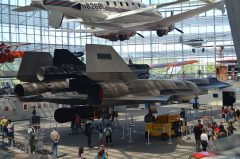Lockheed M-21 Blackbird 60-6940 USAF with D-21 Drone, The Museum of Flight Seattle-Boeing Field, WA USA | Les Spearman