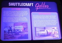 Shuttlecraft Galileo plaquet Space Center Houston, TX