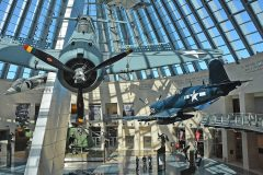 Vought F4U-4 Corsair and Douglas SBD-3 Dauntless, National Museum of the Marine Corps