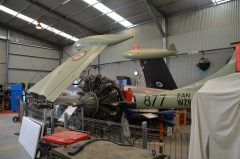 de Havilland Sea Venom FAW.53 WZ931 877 Royal Australian Navy. Under restoration, South Australian Aviation Museum
