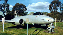 Gloster Meteor F.8 A77-871 RAAF Wagga - Heritage Centre