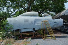 North American F-86F Sabre stored Royal Thai Air Force, Royal Thai Air Force Museum Les Spearman