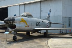 North American F-86L Sabre Kh17k-5 06 1215 30681 Royal Thai Air Force, Royal Thai Air Force Museum Les Spearman