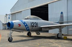 Republic F-84G Thunderjet Kh16-1231 878 Royal Thai Air Force, Royal Thai Air Force Museum Les Spearman