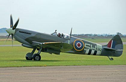 Vickers Armstrong Spitfire Mk IXe MK912 SH-L, Biggin Hill Heritage Hangar