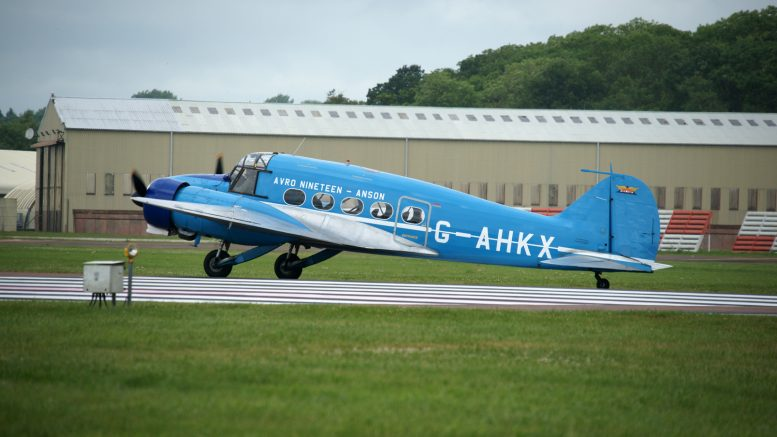 Avro 652A Anson C.19 Series 2 G-AHKX private Shuttle Worth Collection, RIAT 2016 RAF Fairford