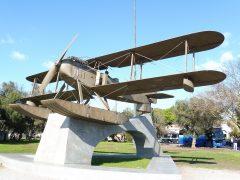 Statue of Gago Coutinho Sacadura Cabral Plane