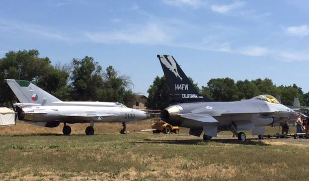 F-16A and MiG-21 Castle Air Museum