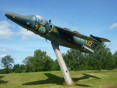 Saab Sk60D MT 60132 132 Swedish Air Force, Ljungbyhed Militärhistoriska muséet