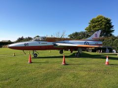 Hawker Hunter T.8C WV396 91 RAF, Anglesey Transport Museum - Tacla Taid