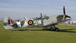 Supermarine 509 Spitfire T.9 G-CTIX PT462 SW-A RAF, Aircraft Restoration Company at Duxford