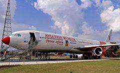 Airbus A330-303 TC-JOC, Aviation Museum उड्डयन संग्रहालय Sinamangal 44600, Kathmandu, Nepal