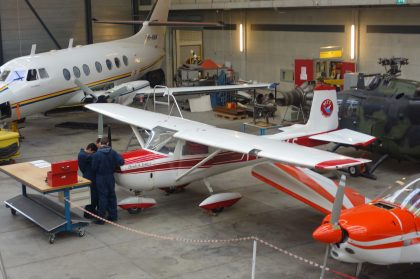 Cessna Ce.150E PH-ALB as PH-SKS, ROC van Amsterdam – MBO College Airport, Hoofddorp