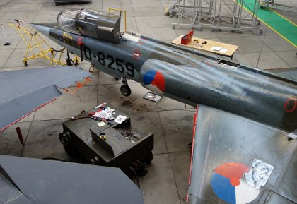 Lockheed F-104G Starfighter D-8259 Royal Netherlands Air Force, ROC van Amsterdam – MBO College Airport, Hoofddorp