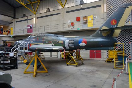 Republic F-84F Thunderstreak P-134 Royal Netherlands Air Force, ROC van Amsterdam – MBO College Airport, Hoofddorp