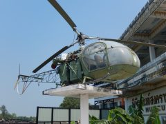 Sud Aviation SE3130 Alouette II 75+74 German Army, JEATH War Museum,  Kanchanaburi Thailand