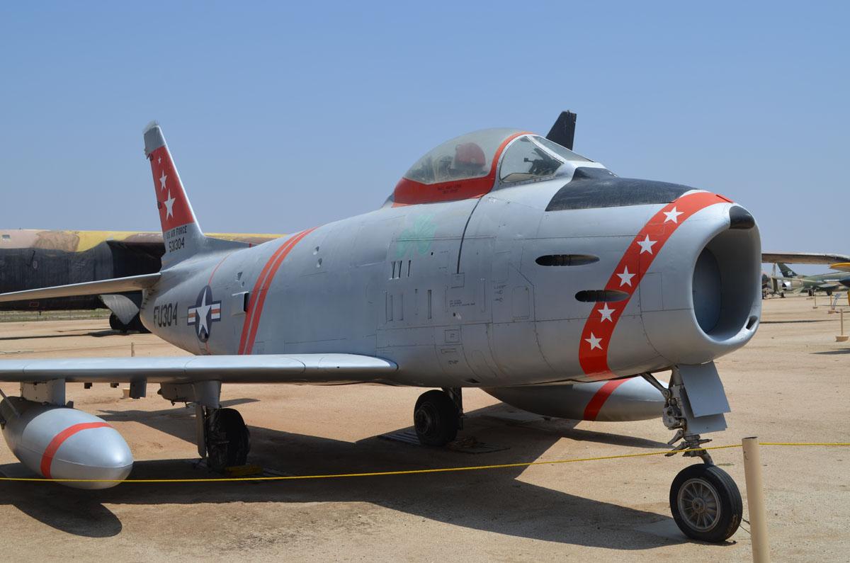 53 1304 FU 304North American F 86H Sabre March Field Museum