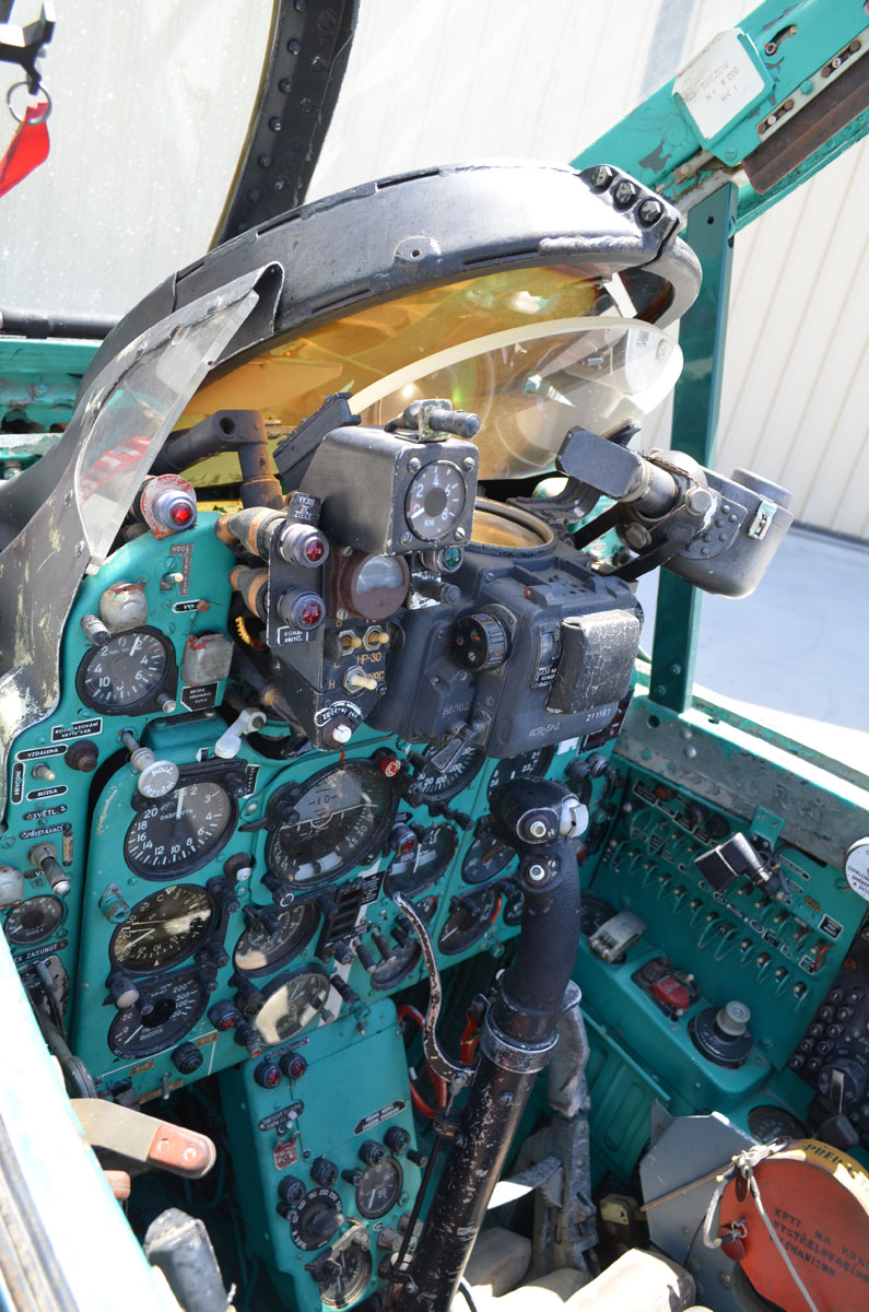 1112 Mikoyan Gurevich MiG-21F-13 cockpit - Palm Springs Air Museum